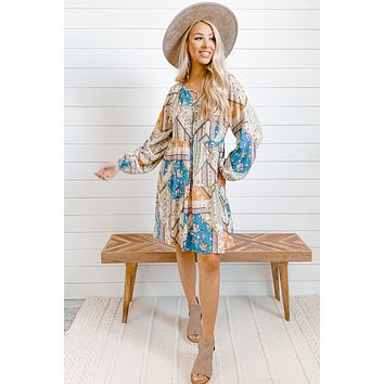 Buckle Up Buttercup Printed Mini Dress