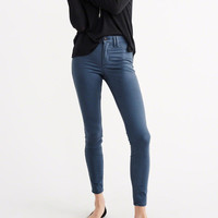SUPER SKINNY SATEEN PANTS