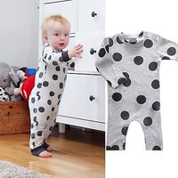 Organic Baby Girl Boy Kids Clothes Long Sleeve Rompers Playsuit Onesuits Age 6M-3