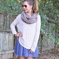 Joliet Gardens Taupe Basic Top