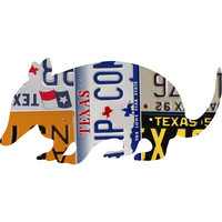 Texas License Plate Armadillo