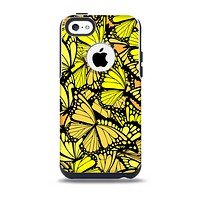 The Yellow Butterfly Bundle Skin for the iPhone 5c OtterBox Commuter Case