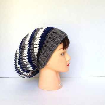 Slouchy beanie, crochet hat for men, mens hat, womens hat, unisex hat, fall hat, winter beanie, christmas gift, ready to ship