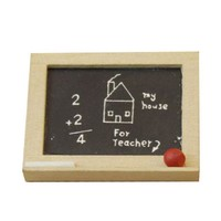 High Quality 1 Pcs 1/12 Dollhouse Miniature Small Blackboard Model