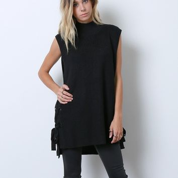 Guilty Free Sweater Top - Black