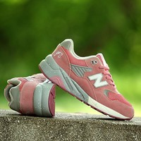 New Balance Ladies Summer Korean Shoes Flat Permeable Casual Thick Crust Sneakers [9115454599]