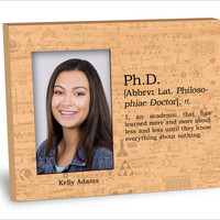 Ph.D. Definition Picture Frame