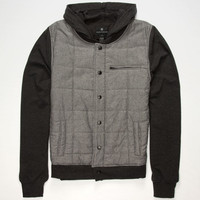 Shouthouse Snap To It Mens Jacket Charcoal  In Sizes