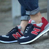 DCCKGQ8 new balance leisure shoes running shoes men s shoes for women s shoes couples n word dark blue red