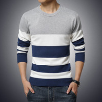 Long Sleeve Striped Pullover Sweater