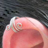 Wide Spiral Ear Wrap, Ear Cuff, No Pierce, Cartilage Cuff, Helix Jewelry, Cartilage Hoop, Helix Accessory, No Pain, Stocking Stuffer,