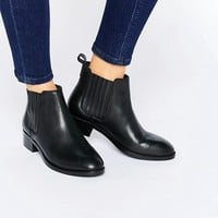 ASOS ABOUT TIME Wide Fit Leather Chelsea Boots at asos.com