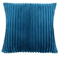 "Pillow - 18""X 18"" / Blue Ultra Soft Ribbed Style / 1Pc"
