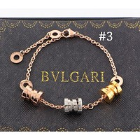BVLGARI Fashion Pop Spring Bracelet Tricolor Titanium Steel Bracelet Couples F-HLYS-SP #3