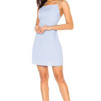 Line & Dot Brynn Tied Back Dress in Light Blue