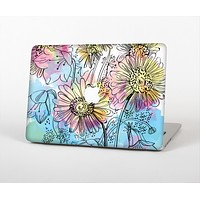 The Colorful WaterColor Floral Skin Set for the Apple MacBook Air 11""