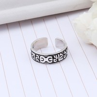 Gift Shiny Jewelry New Arrival 925 Silver Korean Fashion Stylish Accessory Strong Character Ring [7652915655]