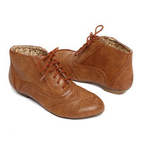 Papaya Clothing Online :: PERFORATED LEATHERETTE OXFORDS
