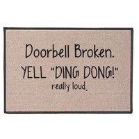 Yell Ding Dong Doormat