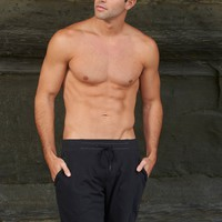 French Terry Black Sweat Shorts - Sauvage | High End Designer Shorts