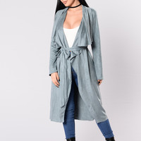 Smooth Talk Jacket - Dusty Blue