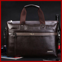 Free Shipping 2015 New Fashion Genuine Leather Bag Men Famous Brand POLO Shoulder Bag Messenger Bags Fashion Men's Travel Bags
