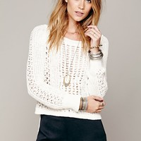 Free People Cropped Zip Back Pullover