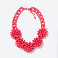 Intense Coral Flower Necklace - $45