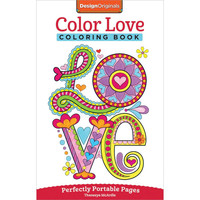 Design Originals Color Love Perfectly Portable Adult Coloring and Activity Book
