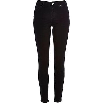 River Island Womens Black Jenna straight jeans