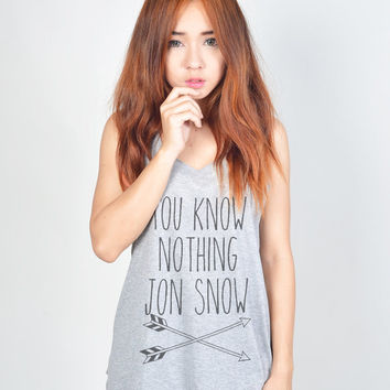 You Know Nothing Jon Snow Game of Throne t-shirt tee unisex mens womens hipster swag dope tumblr pinterest instagram blogger
