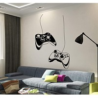 Vinyl Wall Decal Joystick Video Game Play Room Gaming Boys Stickers Unique Gift (ig3652)