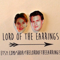 Hazel and Augustus - The Fault in Our Stars - Stud Earrings