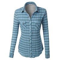 Wrinkle Resistant Long Sleeve Button Down Plaid Shirt (CLEARANCE)