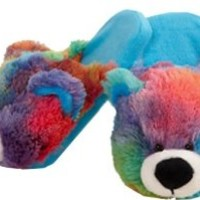 Genuine Ultra Soft My Pillow Pet RAINBOW BEAR PEACEFUL SLIPPER Medium