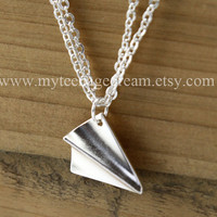 One Direction paper airplane bracelet, Directioner harry style bracelet, silver paper airplane charm