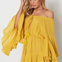 Summer Dreams Romper Mustard