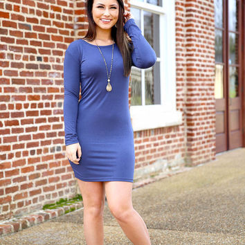 Piko fitted dress - navy