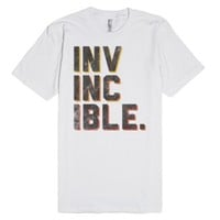 INVINCIBLE (Vintage)-Unisex White T-Shirt