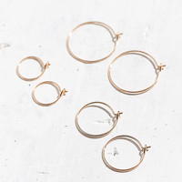Brass Wire Hoop Earring Set | Urban Outfitters