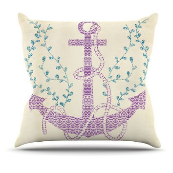 Tribal Nautical Throw Pillow for your home decor