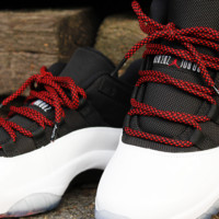 LACED UP BLACK RED SHOELACE