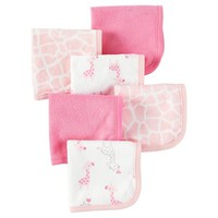 Baby Girls' Pink Giraffe 6 Pack Washcloths - Just One You™Made by Carter's® : Target