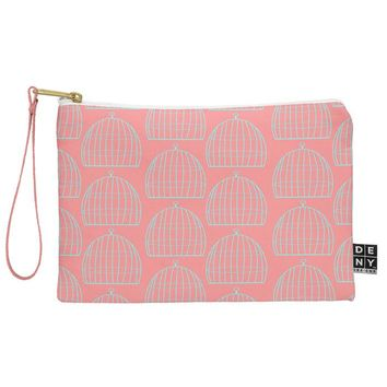 Allyson Johnson Bird Cage Pattern Pouch