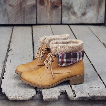 Fall Legend Booties in Sand
