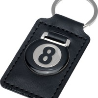 Leather 8-Ball Keychain