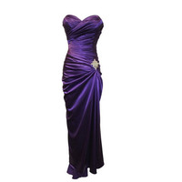 A-line Sweetheart Sleeveless Floor-length Satin Bridesmaid Dress With Beading Free Shipping