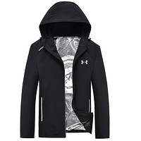 Under Armour Fashion Men Long Sleece Sweater Shirt Black Coat Tagre™