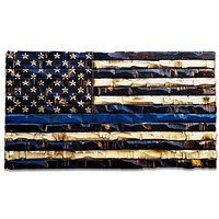 Wood Thin Blue Line Flag 59x32