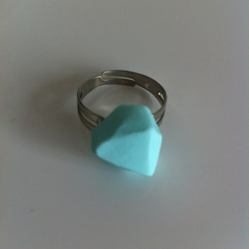 Geometric mint ring